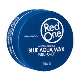 6 x RedOne Blue Aqua Wax Full Force 150ml - Blueberry / Haarwax Red One