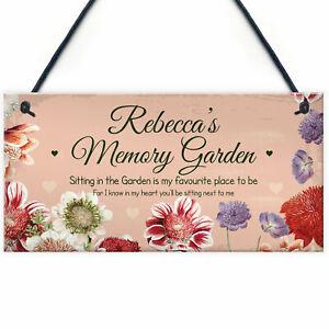 In Memory Plaque Personalised Memory Garden Sign For Garden Memorial Gift