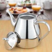 Stainless Steel Teapot With Infuser Strainer Coffee Tea Maker Kitchen Kettle New
