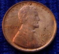 1909 VDB Philadelphia Mint Lincoln Wheat Cent V.D.B. Uncirculated some Spotting