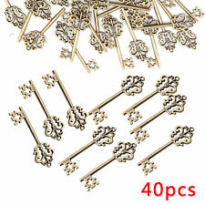 40x Vintage Santas Magic Antique Keys Fairy Angels Alloy Key Charms DIY Decor UK