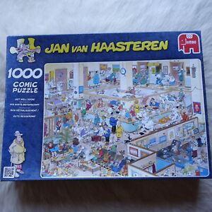Jumbo 1000 Comic Puzzles GET WELL SOON Jan Van Hasteren HOSPITAL Nurse 68 x 49cm