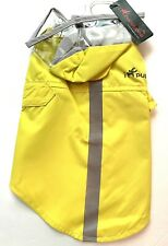 """New listing Dog Raincoat by IpuppyOne Little Barkers Sleeveless 2Straps Attached Hood 11"""" Lg"""