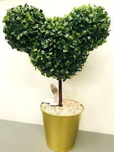 Disney Figur Deko Micky Maus Baum Buchsbäumchen Buchsbaum Topf gold Pflanze 40cm