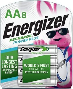 *New*Sealed* Energizer Recharge NH15BP-8 AA Rechargeable Batteries, 8-pack