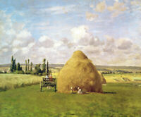 Camille Pissarro The Haystack Fine Art Print on Cotton CANVAS Giclee Poster 8x10