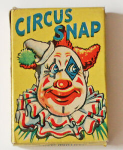 Vintage Circus Snap Card Game, 1950s, Clifford Series
