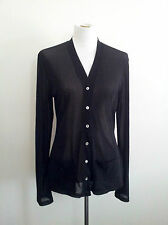 Effortless Style! Pingpong size 14 sheer black mesh long sleeve cardi