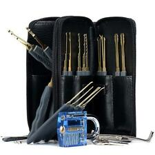 SET DIY 24pcs LOCK PICK PICKING PADLOCKS TOOLS LOCKSMITH BUMP KEY + 12 GUIDES