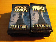 STAR TREK CCG 2E SECOND EDITION, LOT OF 30 SEALED BOOSTER PACKS