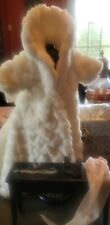 Mel Odom Gene Madra Long Faux Fur Coat from First Encounter wth assorted jewelry