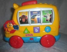 """Photo Fun Learning Alpha Bus Fisher Price 9'x7"""" Push Toddler Educational Toy"""