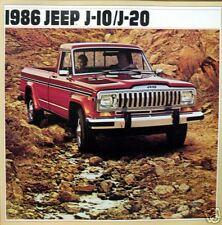 1986 Jeep J-10/J-20 new vehicle brochure