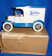 "Ertl 1913 Ford Model ""T"" Scott Tissue Delivery Truck Bank NIB"