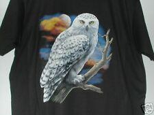 LIFE-LIKE SNOW OWL  UNISEX  NWOT  50 50 Blend BLACK T- SHIRT SIZE 4XL