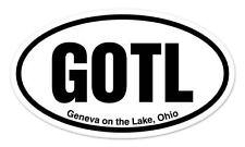 "GOTL Geneva on the Lake Ohio Oval car window bumper sticker decal 5"" x 3"""