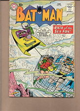 """BATMAN  #132 1960 """"LAIR OF SEA-FOX"""" DC// ROBIN  VG/GD"""