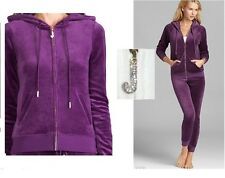 Juicy Couture Plum J bling Hoodie Jacket + Slim Skinny Pants XL Tracksuit new