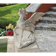 Greek Divine High Spirited Horse Pegasus Sculpture Mythological Garden Statue