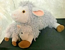 """Kohl's Momma Ewe and Baby Lamb Plush Toys 12"""" Nose to Tail"""
