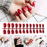 24x  Design False French Nails Full Nail tips Fake Art Cover Manicure New JLLP