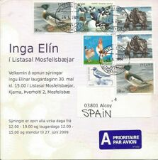 Complete Postal Iceland to Spain - Mosfelbar to Alcoy (Alicante) 2009