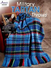 Crochet Pattern Book MILITARY TARTAN Throws / Afghans ~ Army, Navy, Air Force +