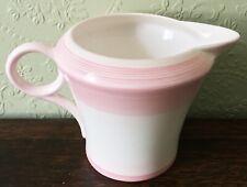 More details for vintage 1930s shelley porcelain regent shape milk jug pink bands w.12872