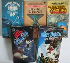1978/86 Daw/Del Ray Sci Fi Lot of 5 paperbacks VF-/FN-  Hogan Pohl Wollheim