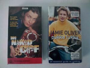Jamie Oliver VHS; The Naked Chef & Pukka Tukka