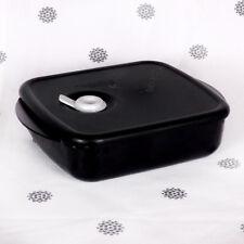 NEW Tupperware Heat N Eat Microwave 600ml Black