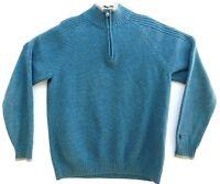 Columbia Mens Blue 1/4 Zip Pullover Sweater Size M EUC