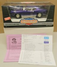 1994 PLYMOUTH HEMI CUDA PURPLE NOS 1970 SHAKER MOPAR NATS NATIONALS ERTL 1/18