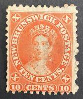 1860 New Brunswick Scott #9 (SG #17) - 10c Queen Victoria Fresh Example ST7