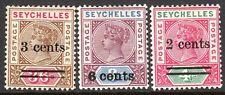 Seychelles 1901 part set mint SG39/40/41 (3)