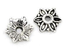 "20 Silver FLOWER BEAD CAPS 5/16"" (8mm) Findings (11099)"