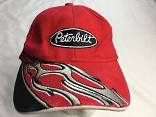 Peterbilt Hat Bright Red Sweeping Flame Adjustable