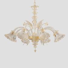 Lampadario in vetro di Murano classico 8 luci cri oro