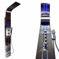 Edelstahl Duschpaneel mit LED Beleuchtung 069