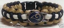 Los Angeles Rams Blue, Gold & White Handmade Paracord Bracelet OR Lanyard