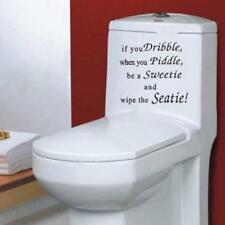 IF YOU DRIBBLE WHEN PIDDLE WIPE THE SEATie TOILET STICKER Bath Wall Art Decor LA