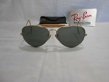 VINTAGE B&L RAY BAN AVIATOR 62-14 Gold SUNGLASSES With CASE Vintage Aviator