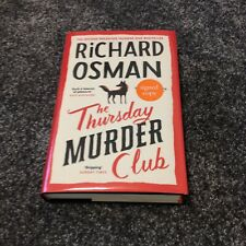 RICHARD OSMAN: THE THURSDAY MURDER CLUB: SIGNED UK HARDCOVER