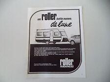 advertising Pubblicità 1981 CARAVAN ROULOTTE ROLLER DE LUXE