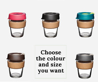 KeepCup Brew Glass Coffee Cup Cork Reusable Eco Mug Keep Cup 8oz12oz16oz Genuine