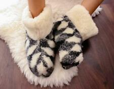 Wool Boots Original Sheepskin Slippers 100% Wool Boots Warm Foot Home Shoes