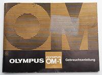 Bedienungsanleitung Beschreibung Olympus OM-1 OM 1 Gebrauchsanleitung
