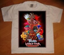 Trolls World Tour Personalized Birthday Party Gift T-Shirt - NEW