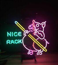 "New Nice Rack Billiards Neon Sign 20""x16"" Bar Pub Gift Light Lamp"