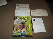 Defiant PLASM 0 BINDER SIGNED BY SHOOTER & LAPHAM 159 CARDS & SPLATTERBALL BOOK